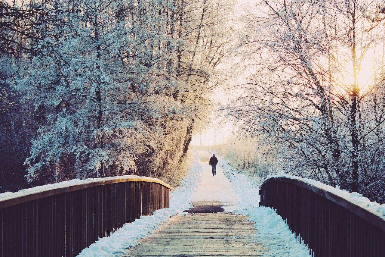 man, bridge, lonely